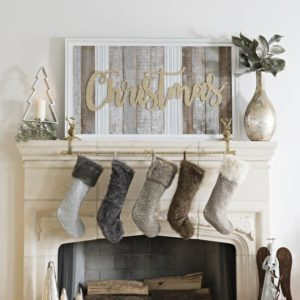 Christmas mantle piece